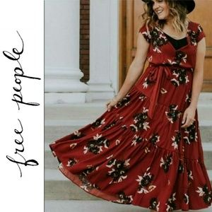 "NWT Free People ""All I Got"" Floral Maxi Dress"